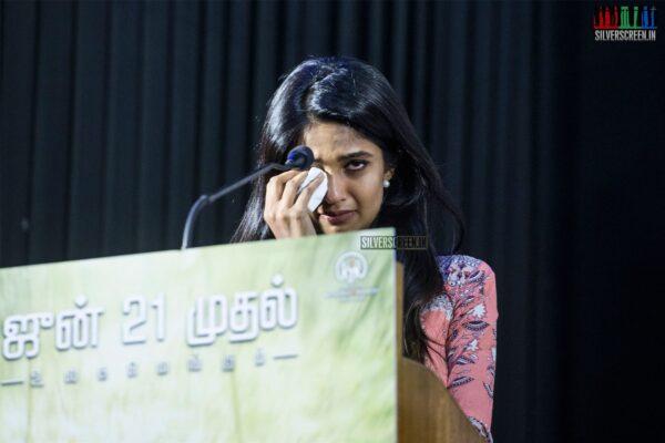 Keerthi Pandian At The 'Thumbaa' Press Meet