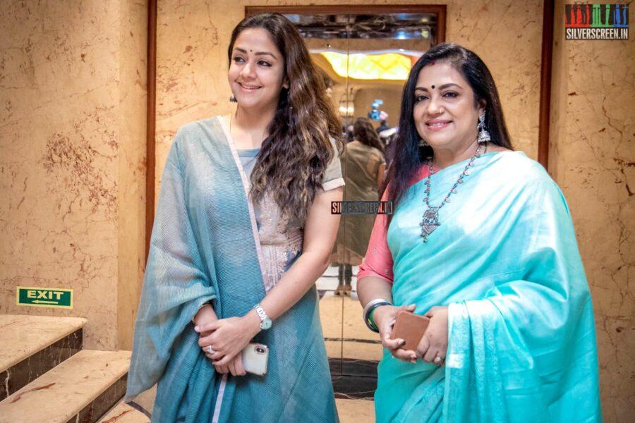 Jyothika, Poornima Bhagyaraj At The 'Raatchasi' Press Meet