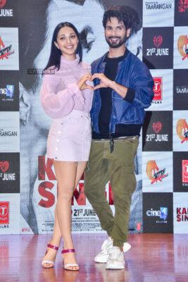 Kiara Advani And Shahid Kapoor At The Mere Sohneya Song Launch From Kabir Singh