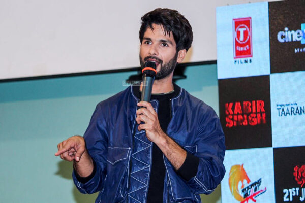 Shahid Kapoor At The Mere Sohneya Song Launch From Kabir Singh