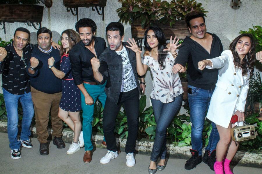 Mallika Sherawat, Sakshi Pradhan At The 'Boo Sabki Phategi' Premiere