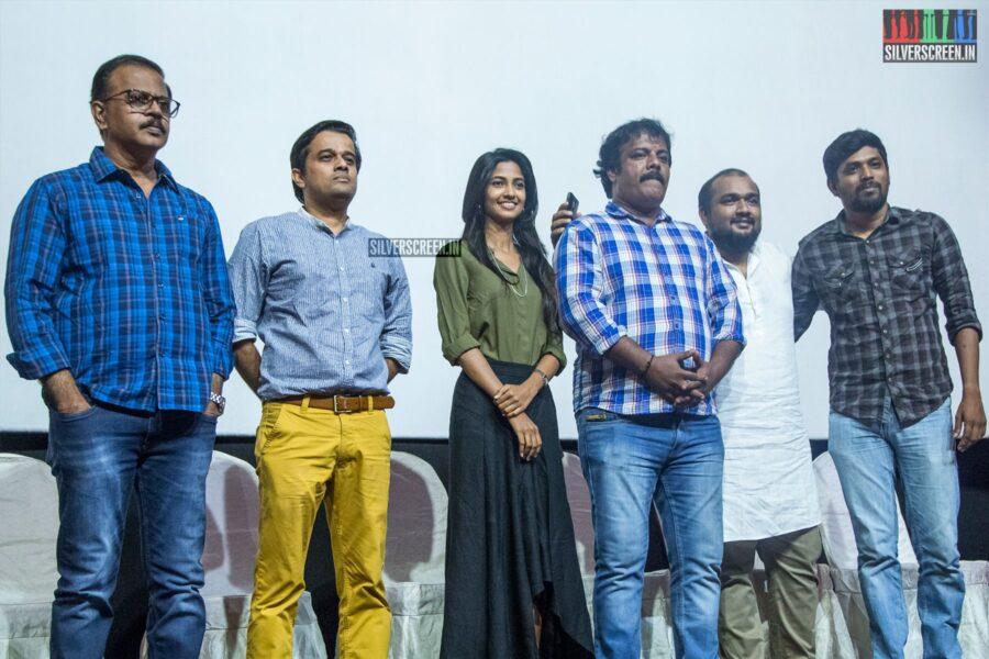 Munishkanth, Keerthi Pandian At The 'Post Man' Screening & Press Meet