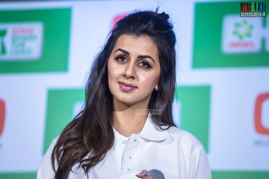 Nikki Galrani At An Event To Promote Education And Household Equality