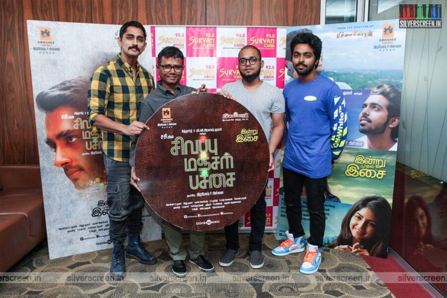 Siddharth, GV Prakash Kumar At The 'Sivappu Manjal Pachai' Audio Launch