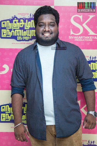 RJ Vigneshkanth At The 'Nenjamundu Nermaiyundu Odu Raja' Audio Launch