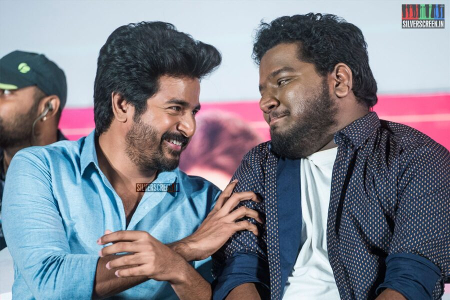 Sivakarthikeyan, RJ Vigneshkanth At The 'Nenjamundu Nermaiyundu Odu Raja' Audio Launch