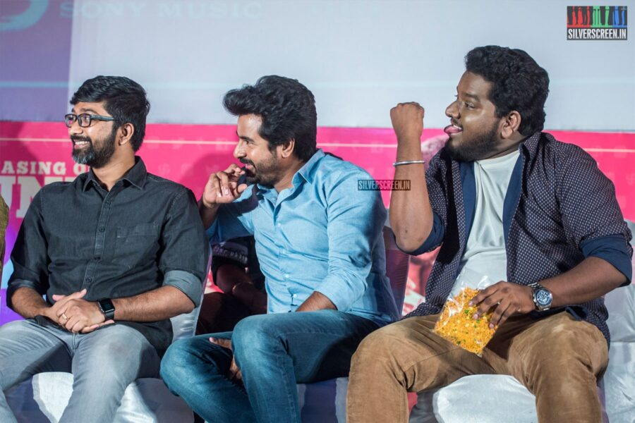 Sivakarthikeyan, RJ Vigneshkanth At The 'Nenjamundu Nermaiyundu Odu Raja' Audio Launch