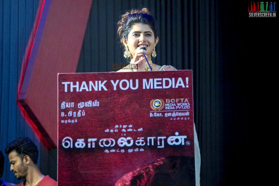 Ashima Narwal At The 'Kolaigaran' Success Meet