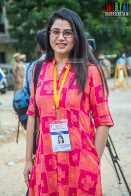 Sangeetha Votes In Nadigar Sangam Elections