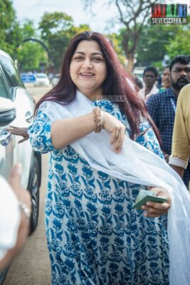 Kushboo Votes In Nadigar Sangam Elections
