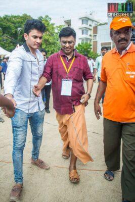 K Bhagyaraj Votes In Nadigar Sangam Elections