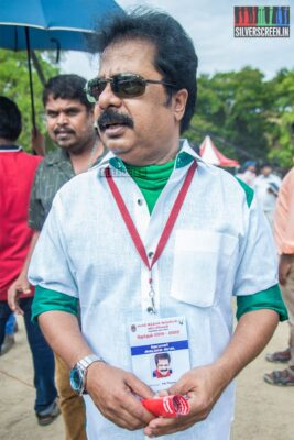 R Pandiarajan Votes In Nadigar Sangam Elections