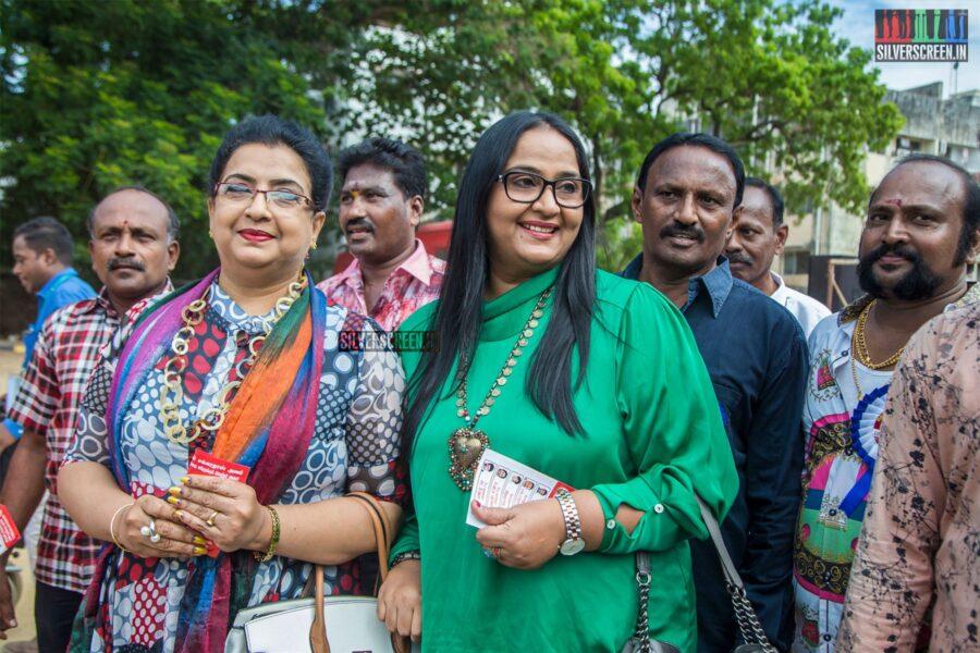 Ambika, Radha Vote In Nadigar Sangam Elections