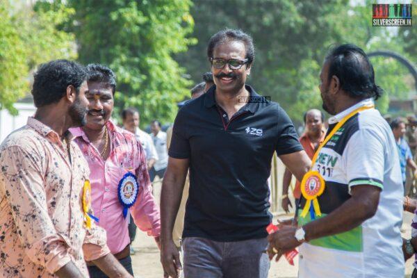 Arun Pandian Votes In Nadigar Sangam Elections