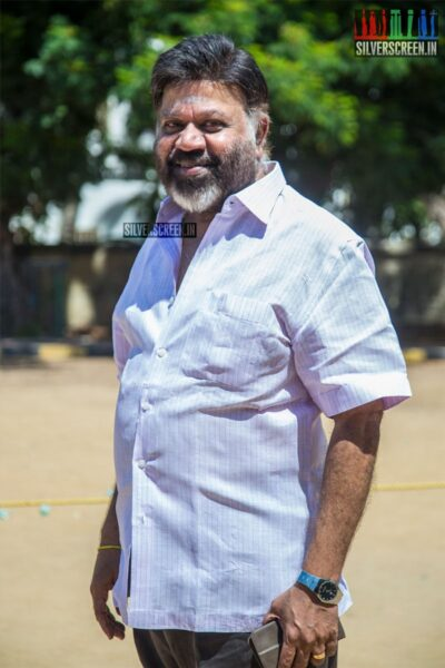P Vasu Votes In Nadigar Sangam Elections