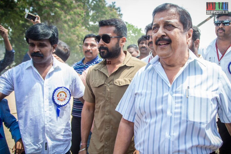 Suriya Votes In Nadigar Sangam Elections