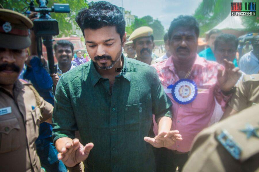 Vijay  Votes In Nadigar Sangam Elections
