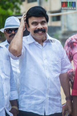 Powerstar Srinivasan Votes In Nadigar Sangam Elections