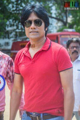 SJ Surya Votes In Nadigar Sangam Elections