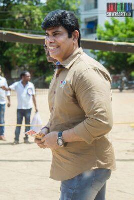 Anandhraj Votes In Nadigar Sangam Elections