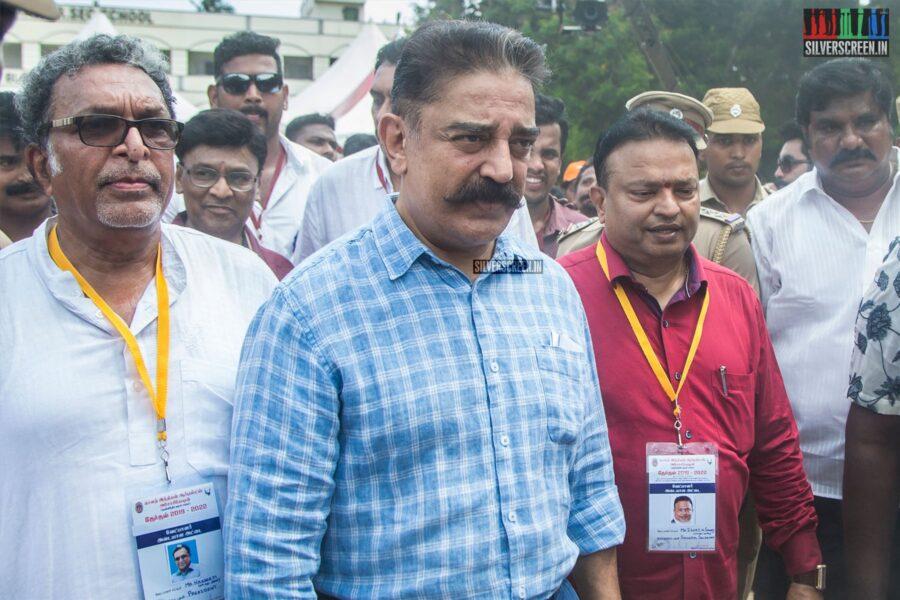 Kamal Haasan Votes In Nadigar Sangam Elections