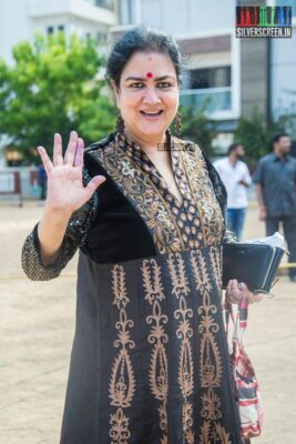 Urvashi Votes In Nadigar Sangam Elections