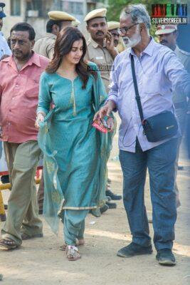 Nikki Galrani Votes In Nadigar Sangam Elections