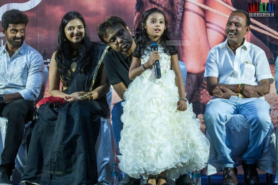 Vikranth, Vasundhara Kashyap , D Imman At The 'Bakrid' Press Meet