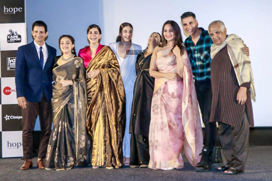 Akshay Kumar, Taapsee, Vidya Balan, Nithya Menen At The 'Mission Mangal' Trailer Launch