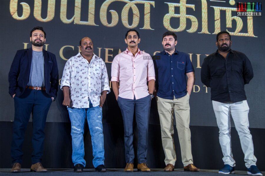 Arvind Swami, Siddharth, Robo Shankar, Singampuli At The 'The Lion King' Trailer Launch