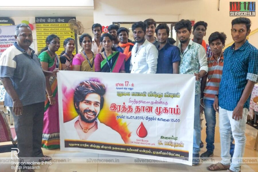 Fans Of Vishnu Vishal Celebrated His Birthday By Donating Blood