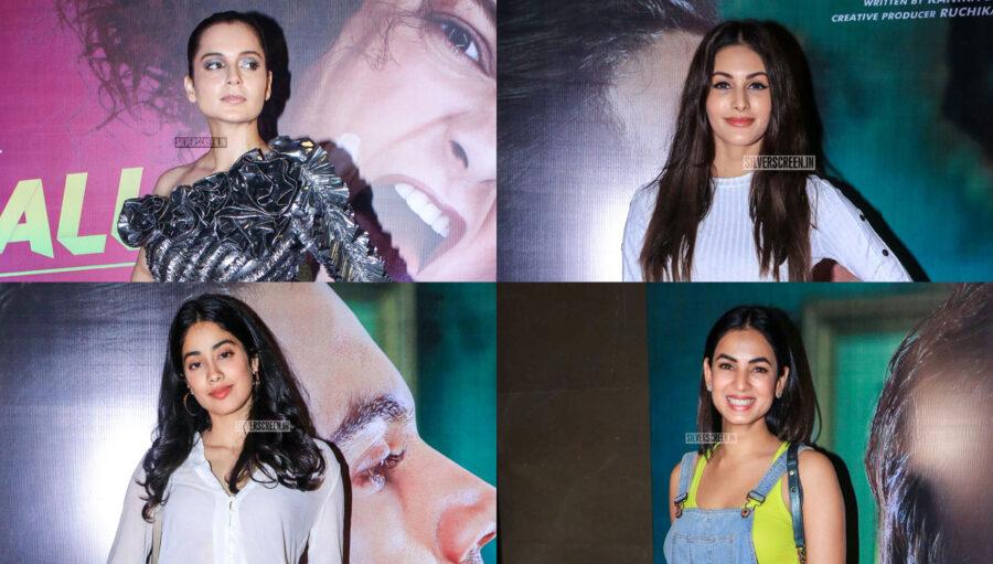 Janhvi Kapoor, Sonal Chauhan, Kangana Ranaut At The 'Judegemental Hai Kya' premiere