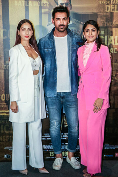 John Abraham, Mrunal Thakur, Nora Fatehi At The 'Batla House' Trailer Launch