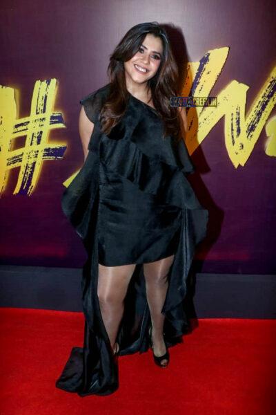 Ekta Kapoor At The 'Wakhra Swag' Song Launch From JudgeMental Hai Kya
