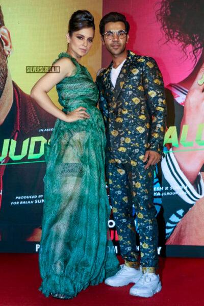 Kangana Ranaut, Rajkummar Rao At The 'Wakhra Swag' Song Launch From JudgeMental Hai Kya