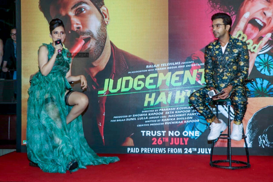Kangana Ranaut, Rajkummar Rao At The 'Wakhra Swag' Song Launch From JudgeMental Hai Kya