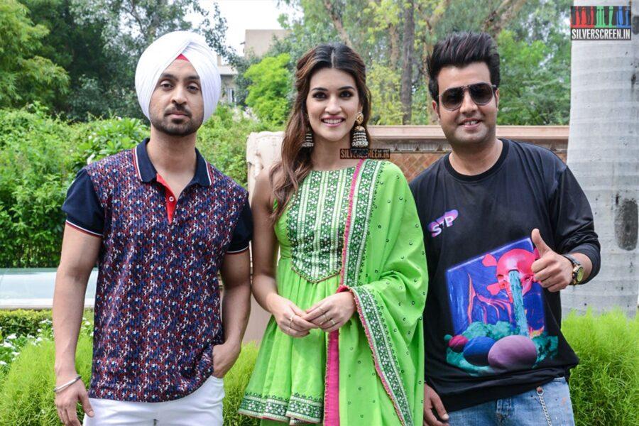 Kriti Sanon And Diljit Dosanjh Promote 'Arjun Patiala'