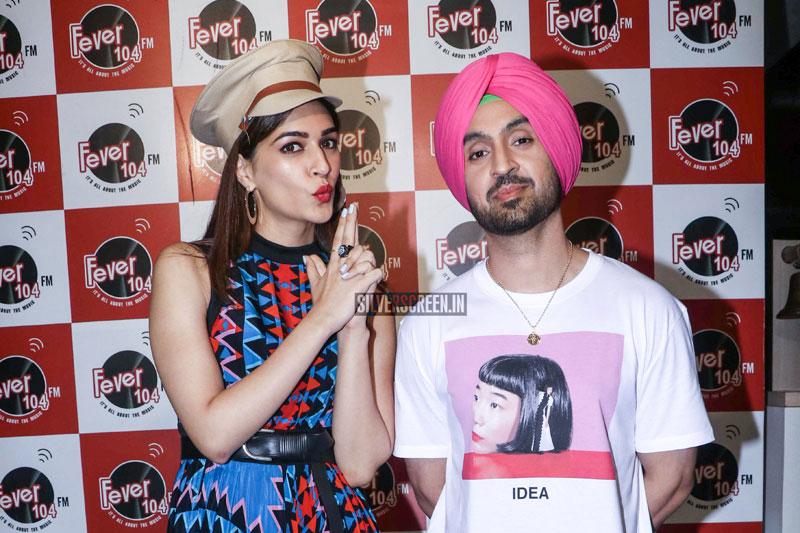 Kriti Sanon, Diljit Dosanjh At A Song Launch From 'Arjun Patiala'
