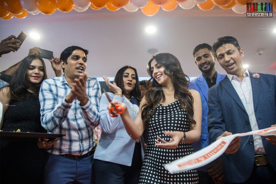 Nikki Galrani At The Relaunch of 'Health & Glow' Store In Chennai