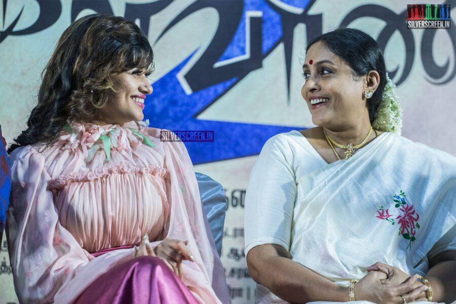 Oviya, Saranya Ponvannan At The 'Kalavani 2' Press Meet