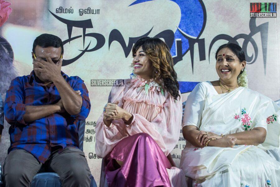 Oviya, Saranya Ponvannan, Ilavarasu At The 'Kalavani 2' Press Meet