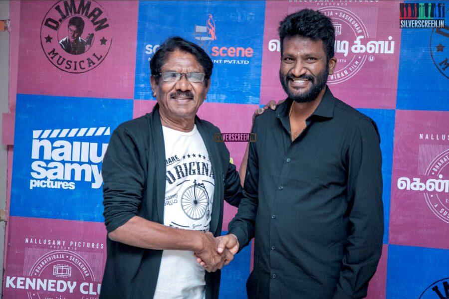 P Bharathiraja, Suseenthiran At The 'Kennedy Club' Audio Launch