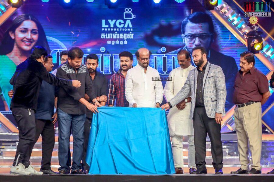 Rajinikanth, Mohanlal, Shankar, Suriya At The 'Kaappaan' Audio Launch