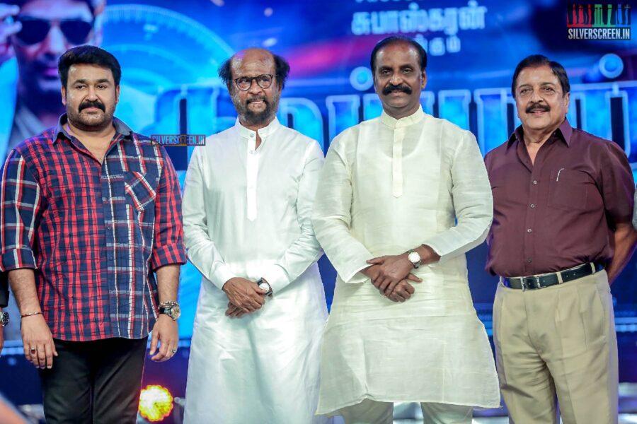 Mohanlal, Rajinikanth, Vairamuthu, Sivakumar At The 'Kaappaan' Audio Launch