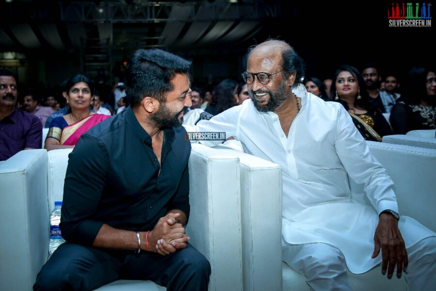 Rajinikanth, Suriya At The 'Kaappaan' Audio Launch