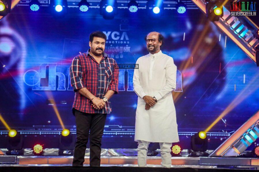 Mohanlal, Rajinikanth At The 'Kaappaan' Audio Launch