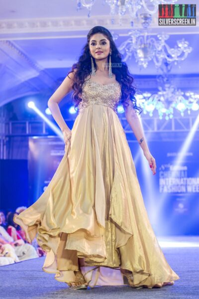 Sanam Shetty At The Chennai International Fashion Week - Day 1
