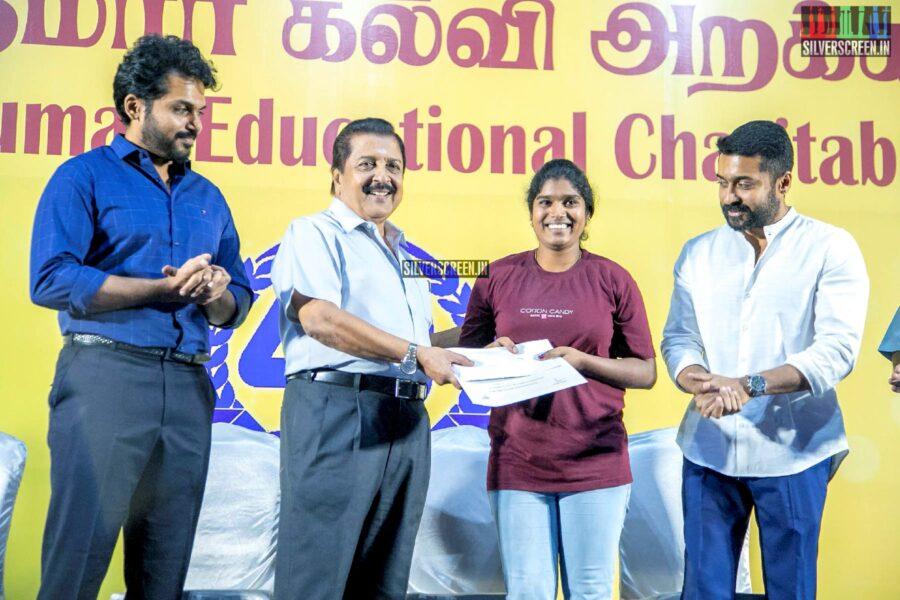 Suriya, Karthi Sivakumar At The 40th Anniverseray Of 'Sri Sivakumar Educational Foundation'