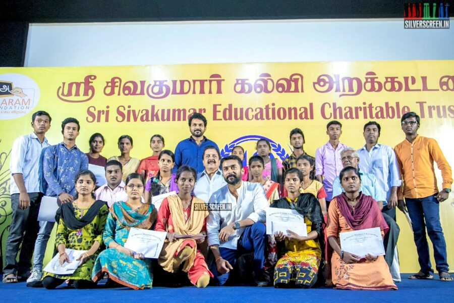 Suriya, Karthi Sivakumar At The 40th Anniverseray Of 'Sri Sivakumar Educational Foundation'
