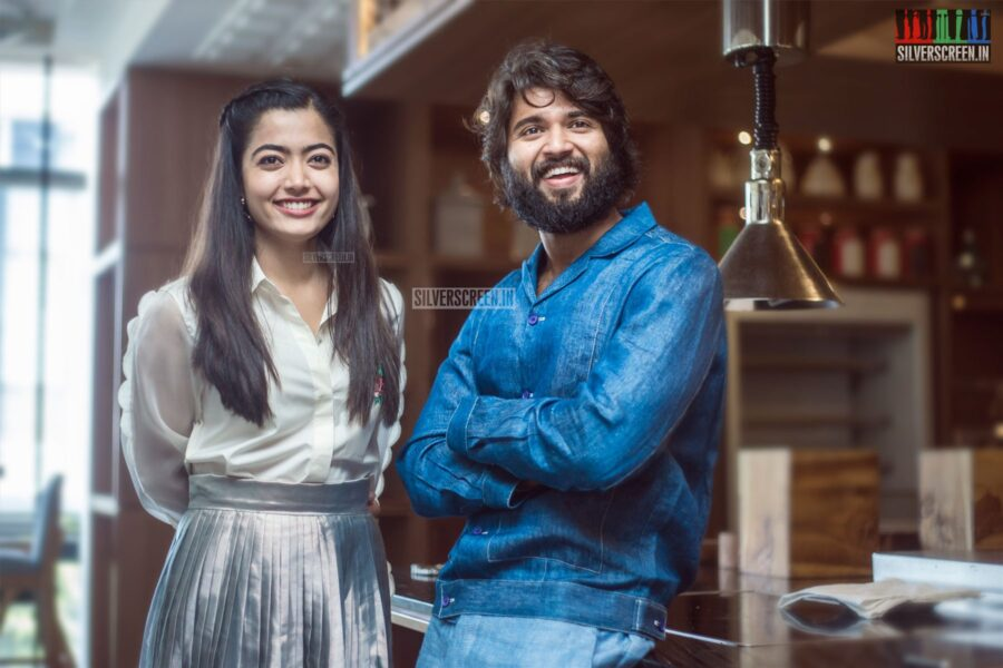 Vijay Deverakonda, Rashmika Mandanna At The 'Dear Comrade' Press Meet